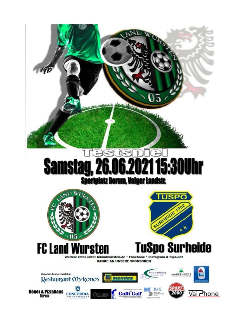 Read more about the article Testspiel: FC Land Wursten- TuSpo Surheide