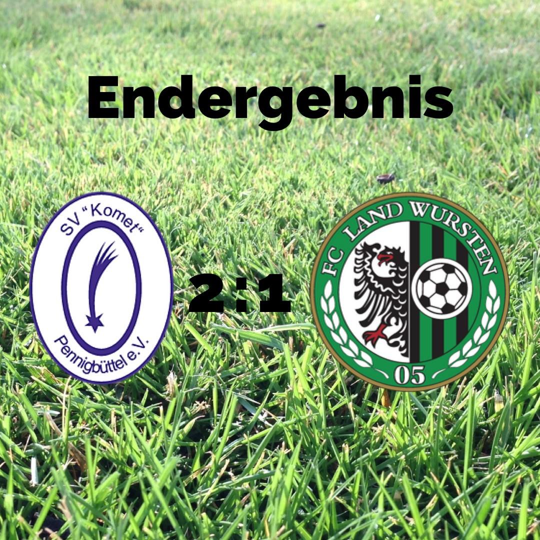 """You are currently viewing Testspiel: SV """"Komet"""" Pennigbüttel – FC Land Wursten 2:1"""