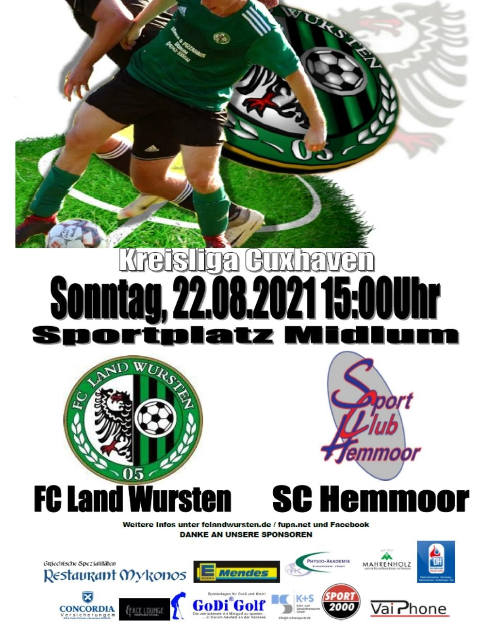 You are currently viewing 2. Spieltag: FC Land Wursten – SC Hemmoor