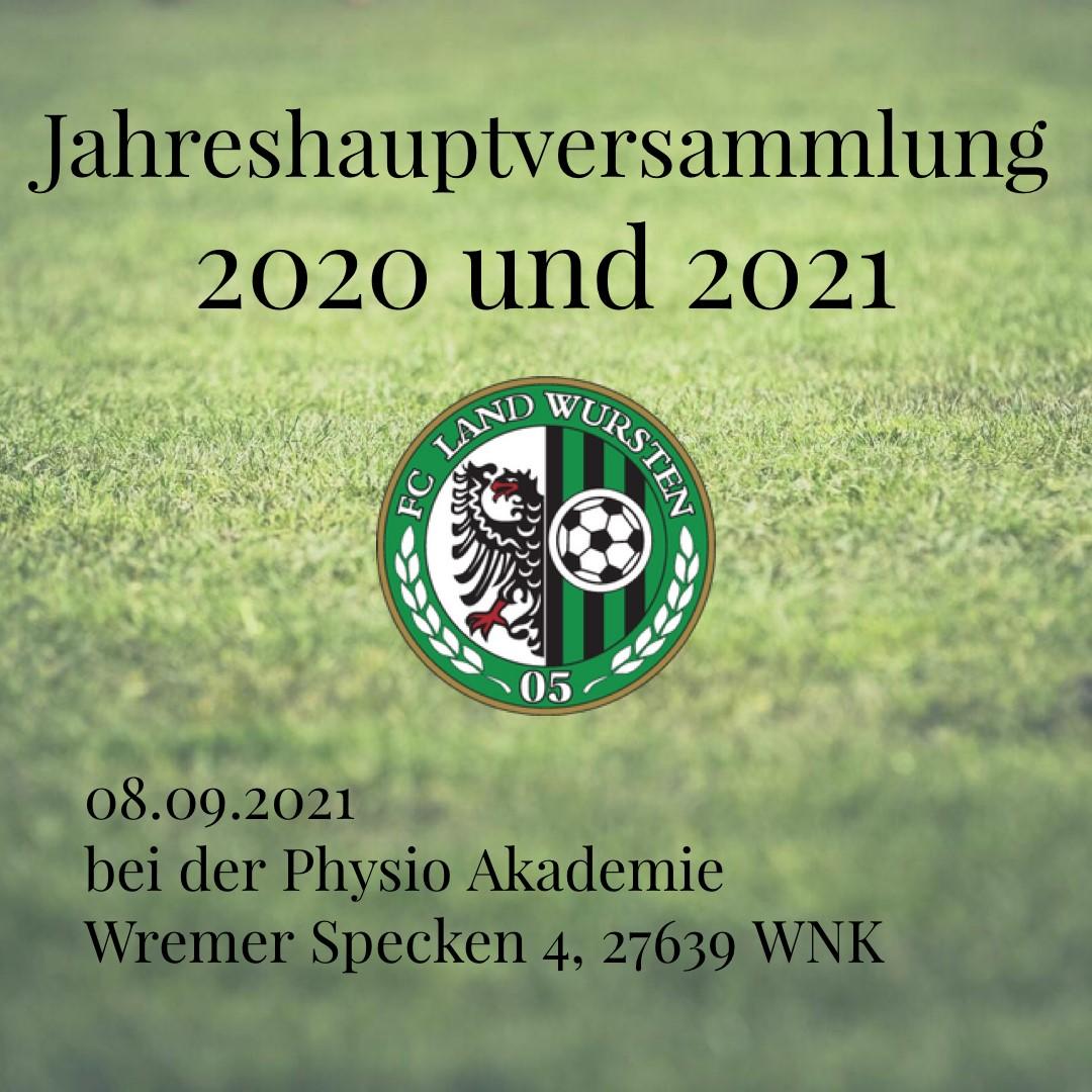 You are currently viewing Jahreshauptversammlung 2020 und 2021