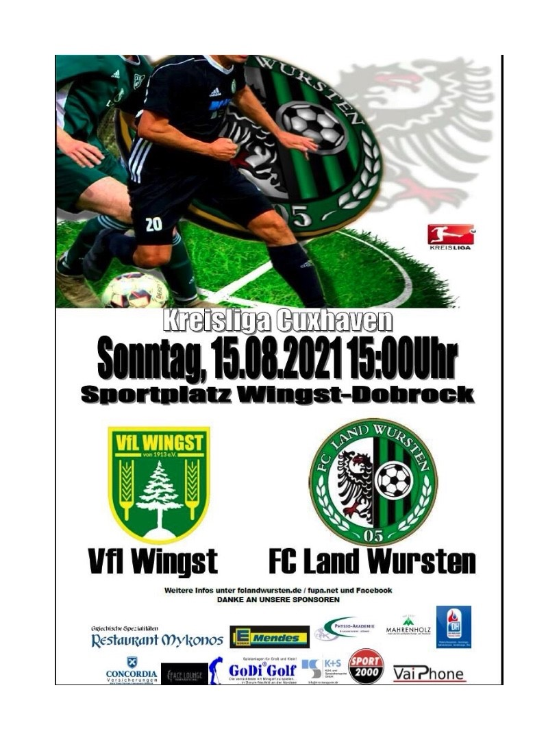 You are currently viewing Krombacher Pokal (2. Runde): TSV Germ. Cadenberge – FC Land Wursten