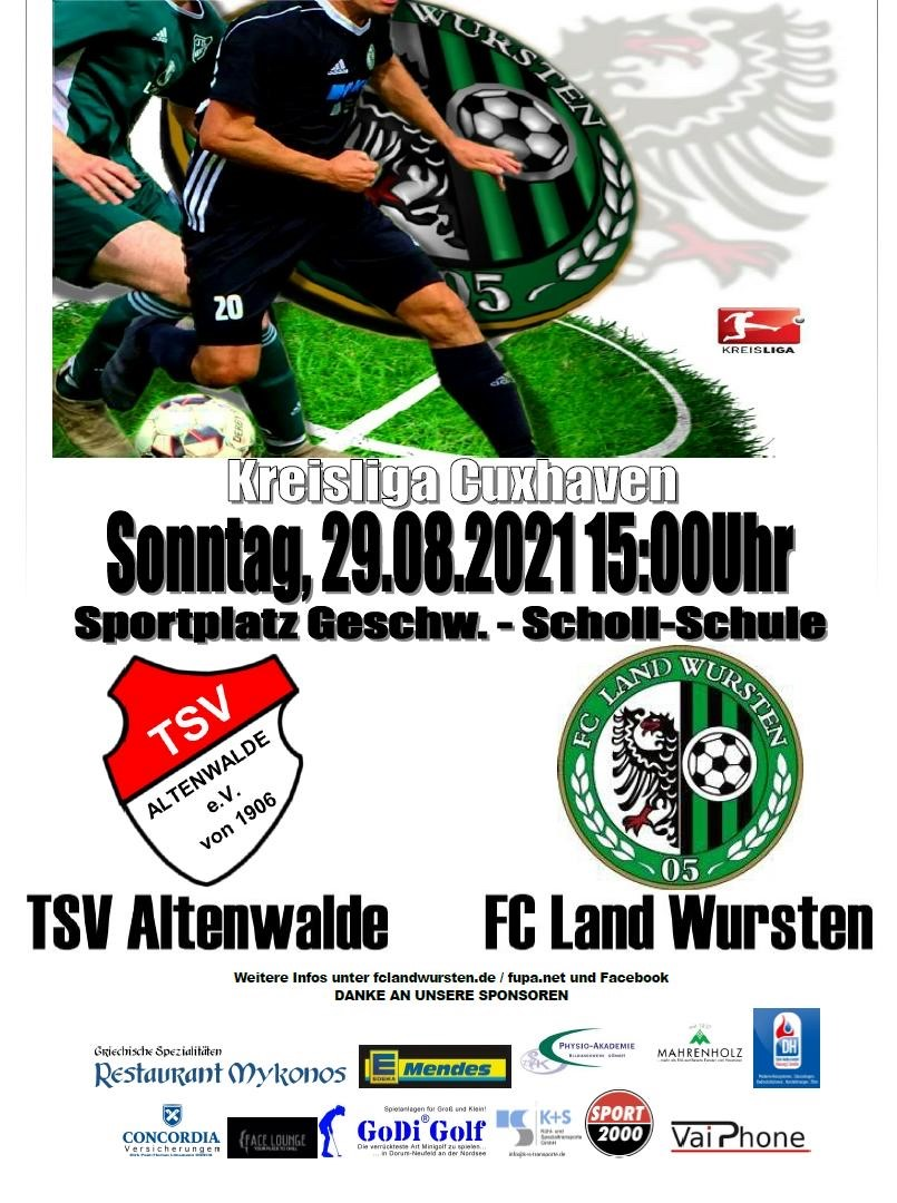 You are currently viewing 3. Spieltag: TSV Altenwalde – FC Land Wursten