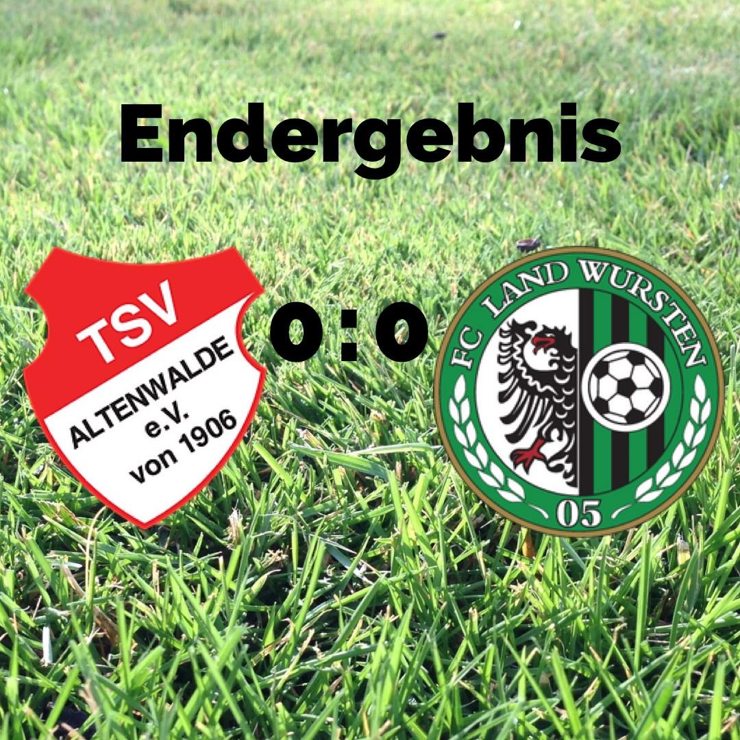 You are currently viewing 3. Spieltag: TSV Altenwalde – FC Land Wursten 0:0