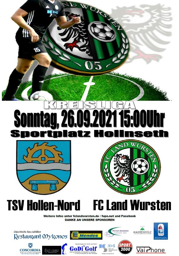 Read more about the article 7. Spieltag: TSV Hollen-Nord – FC Land Wursten