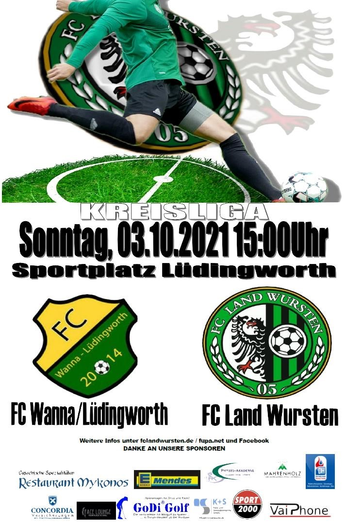 You are currently viewing 8. Spieltag: FC Wanna/Lüdingworth – FC Land Wursten