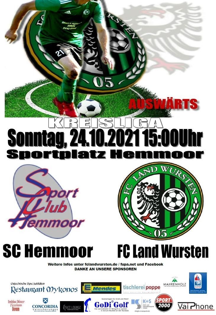 Read more about the article 11. Spieltag: SC Hemmoor – FC Land Wursten
